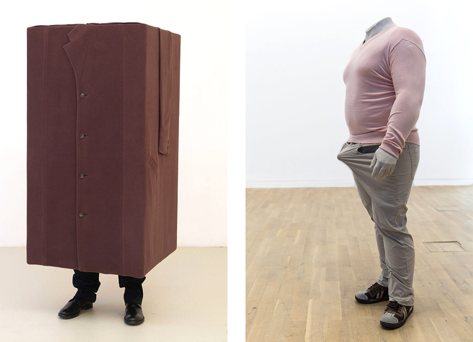 Erwin Wurm,  Hypnosis  (left),  Anger Bump  (right)