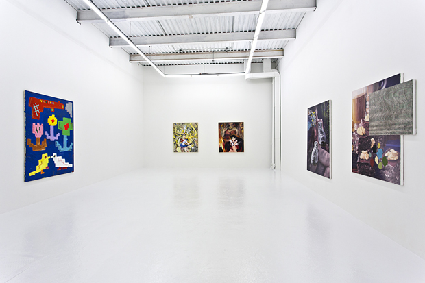Installation view, Post Analog Painting, The Hole NYC
