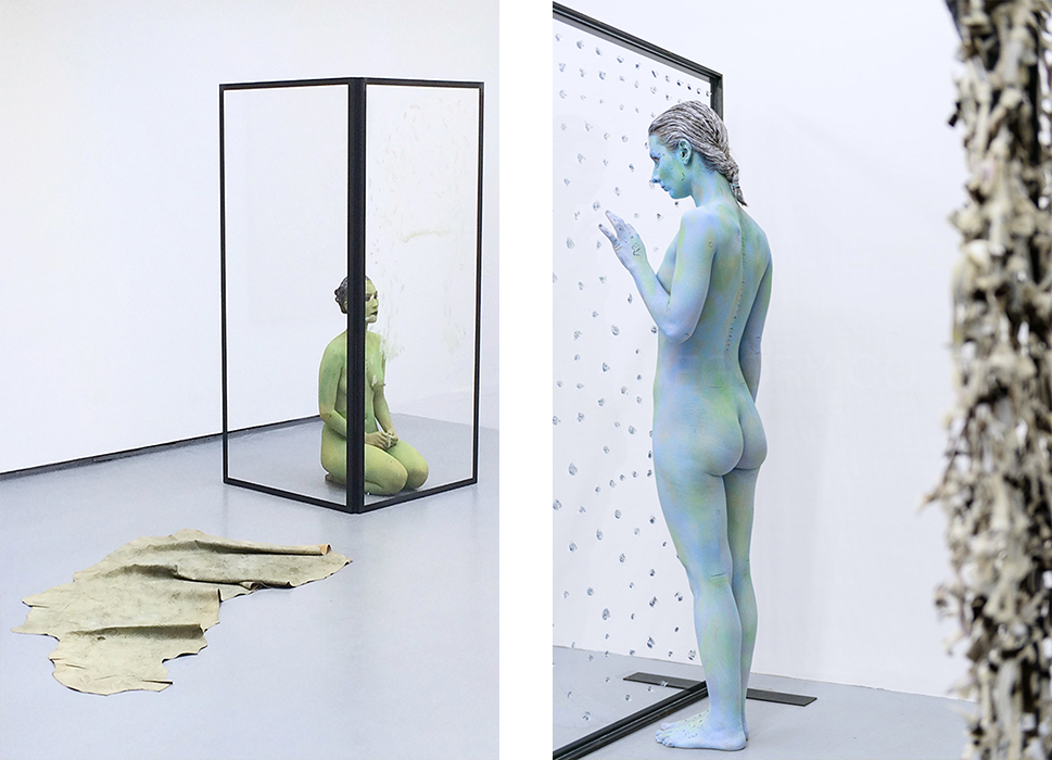 Installation and performance views,Water Scars, Valentin Paris