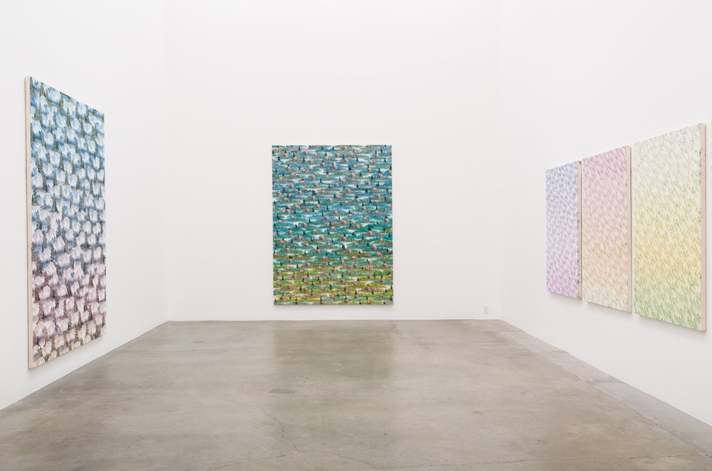 Installation view,  Happy Painting , Anat Egbi