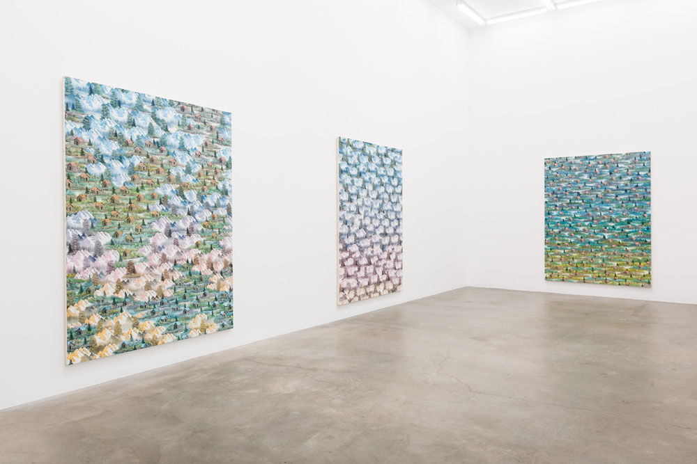 Installation view, Happy Painting, Anat Egbi