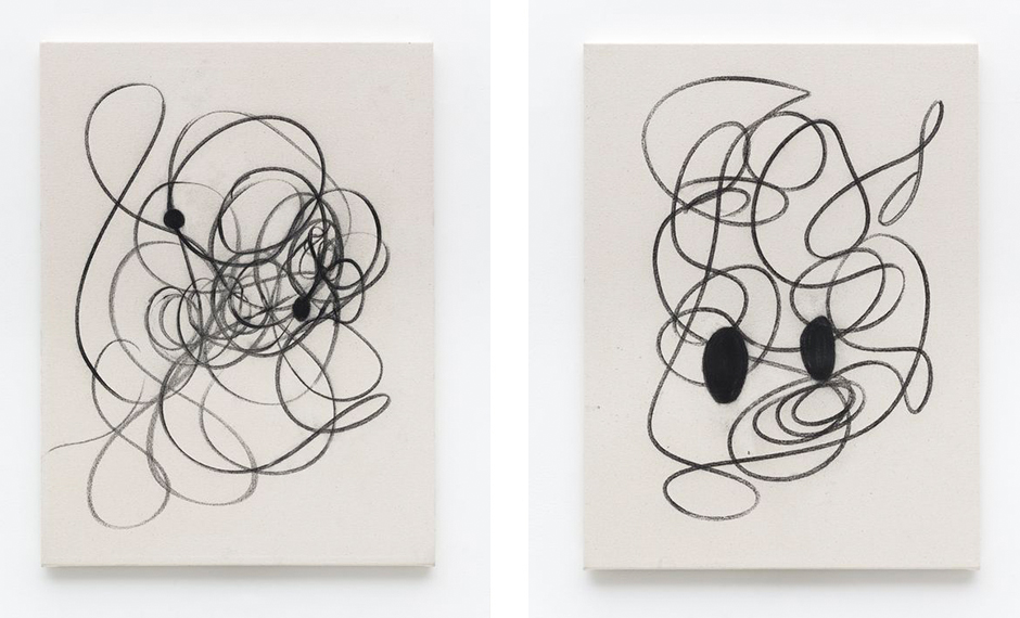 Christian Rosa,  Untitled , 2015 (left) and  Untitled , 2015 (right)