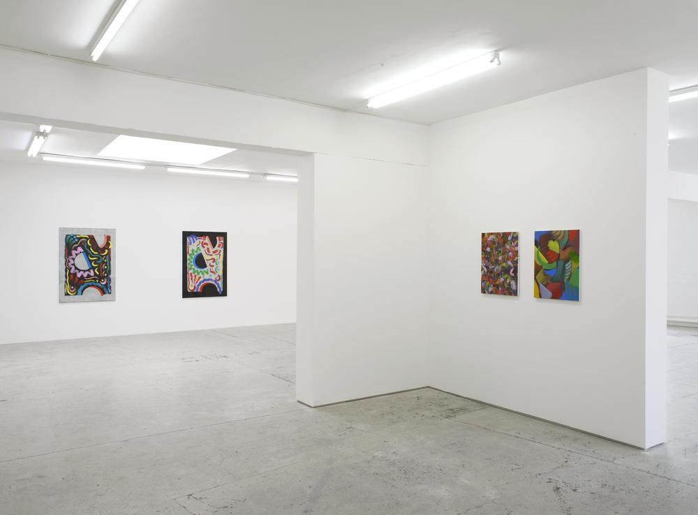 Installation view, Scene of Elastic Sight, Laura Bartlett Gallery