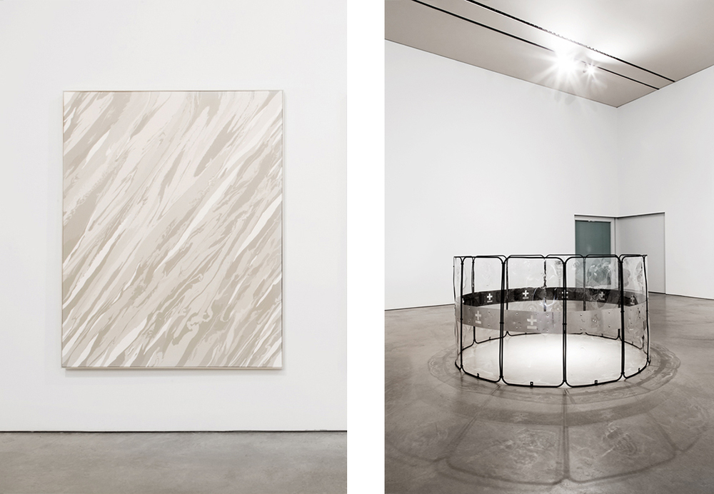 Installation view,  1/81,  Coa Museum, Paulo Arraiano (left) and Miguel Januário (right)