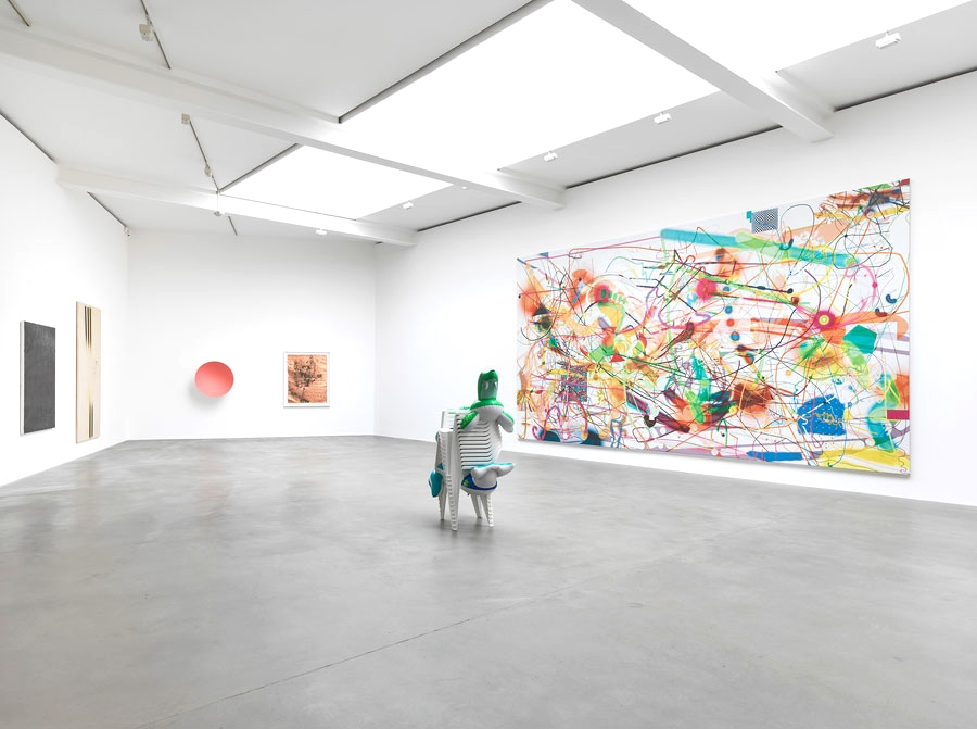 Installation view, Sprayed, Gagosian Gallery