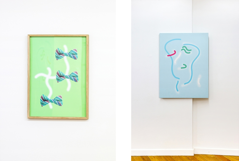 Stefano Calligaro, F***Su**s, 2015 (left) and Le Gr****ur, 2015 (right)