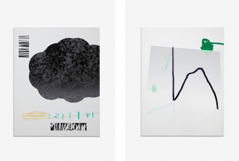 Alberto Fiori,  Untitled , 2015 (left)  Untitled , 2015 (right)