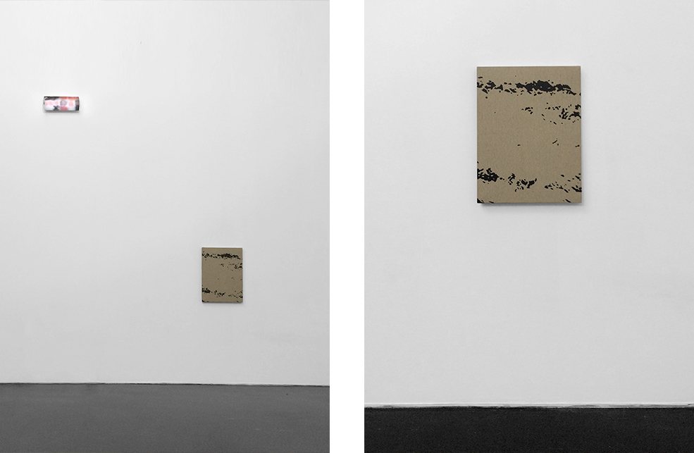 Ricardo Passaporte, Untitled, 2015 (left) Pedro Matos, A moment longer, 2015 (right)
