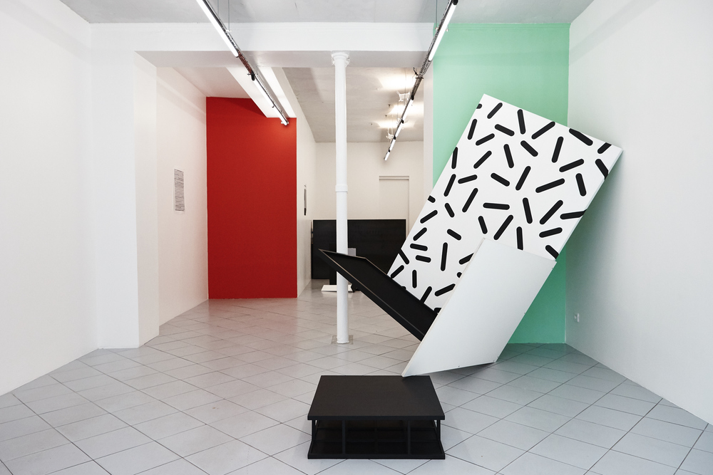 Installation view,  Pictures seemed not to know how to behave , Galerie Jérôme Pauchant