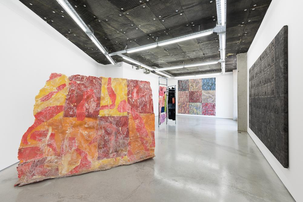 Installation view,Gabriel Hartley, Asger Dybvad Larsen, Camilla Steinum, Rod Barton.