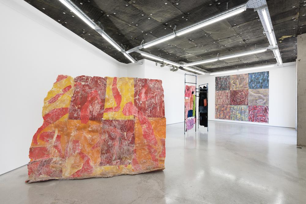 Installation view,Gabriel Hartley, Asger Dybvad Larsen, Camilla Steinum,Rod Barton.