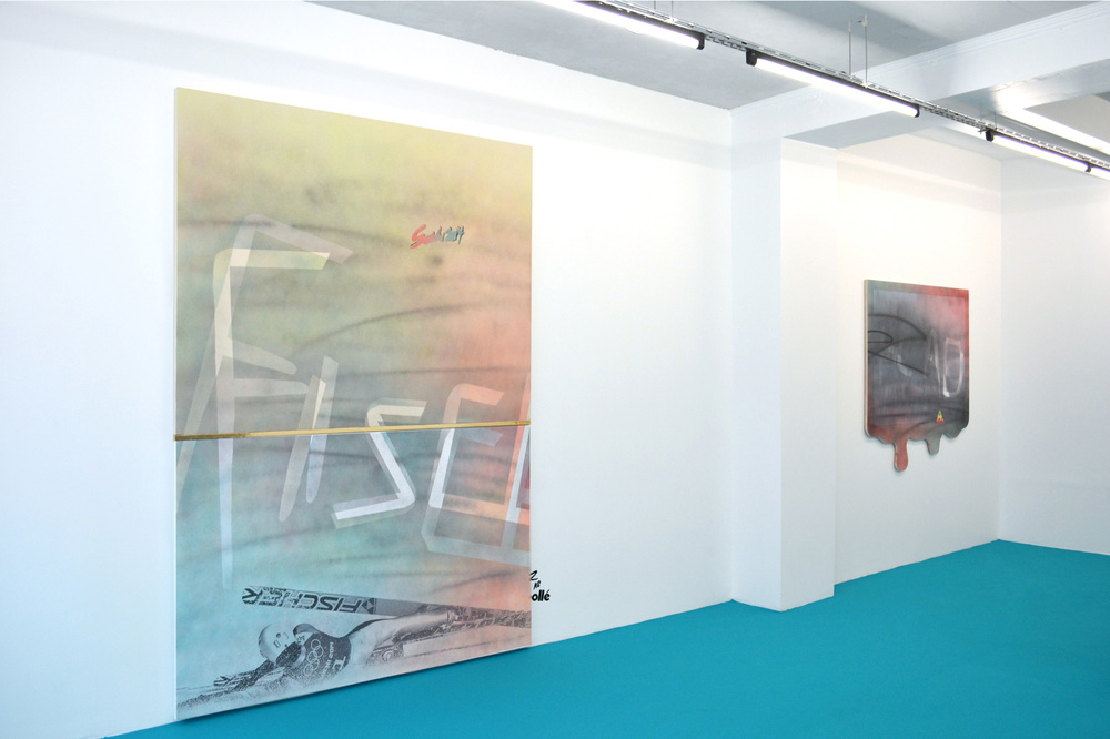 Installation view, Skiing, Galerie Jérôme Pauchant