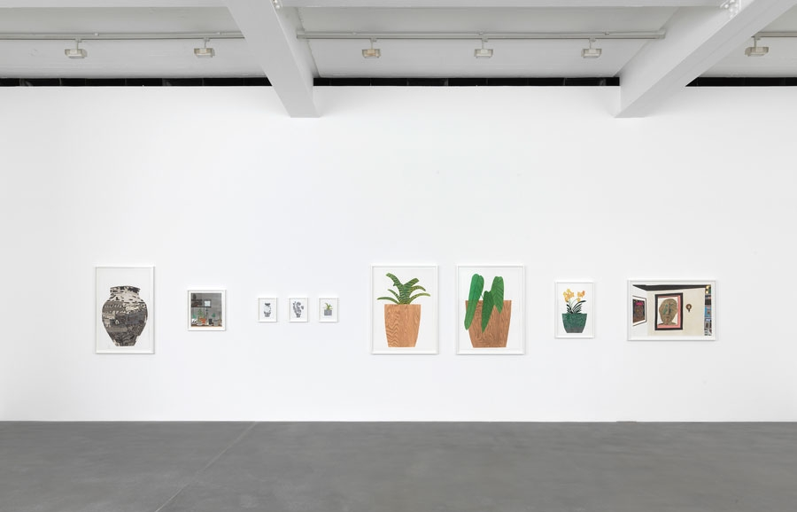 Installation view, Jonas Wood, Gagosian Gallery