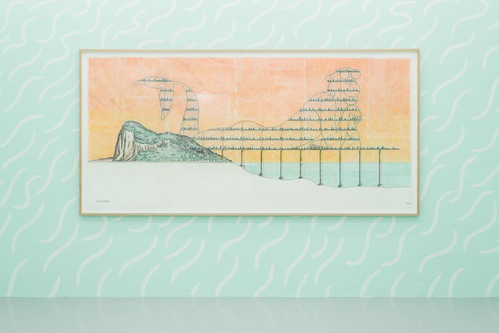 Installation view,Super Gibraltar, Kunsthalle Lissabon