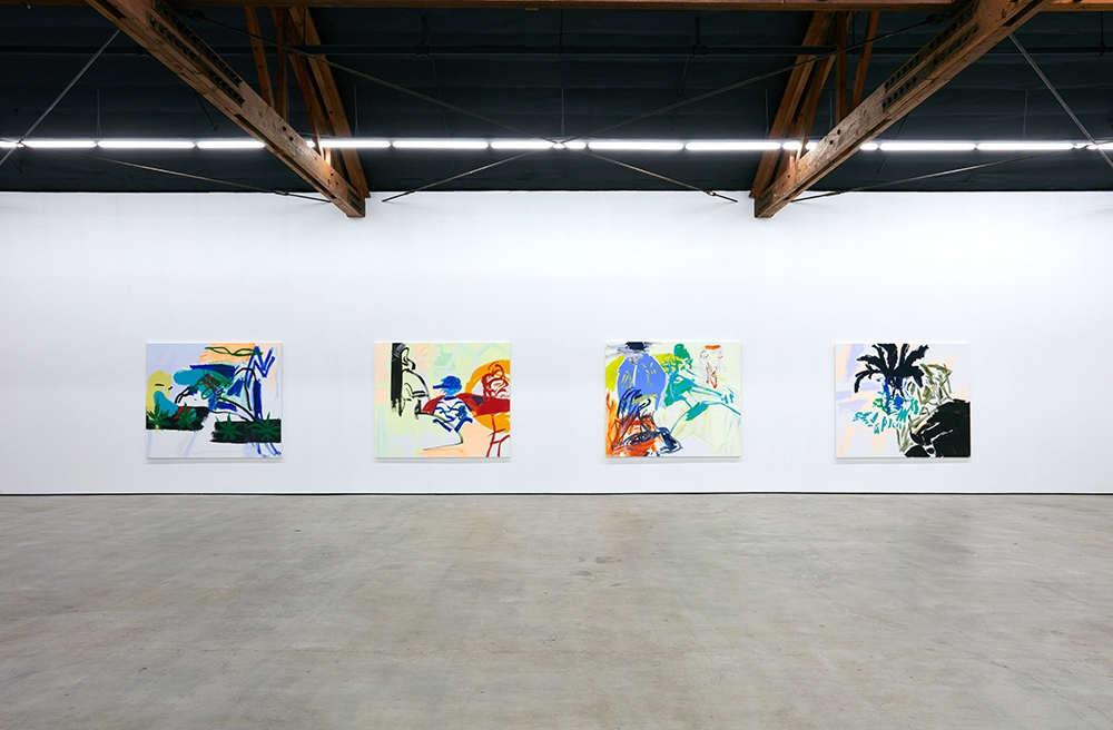 Installation view, Stefania Batoeva, SPEEDING TO THE CORNER, Nicodim