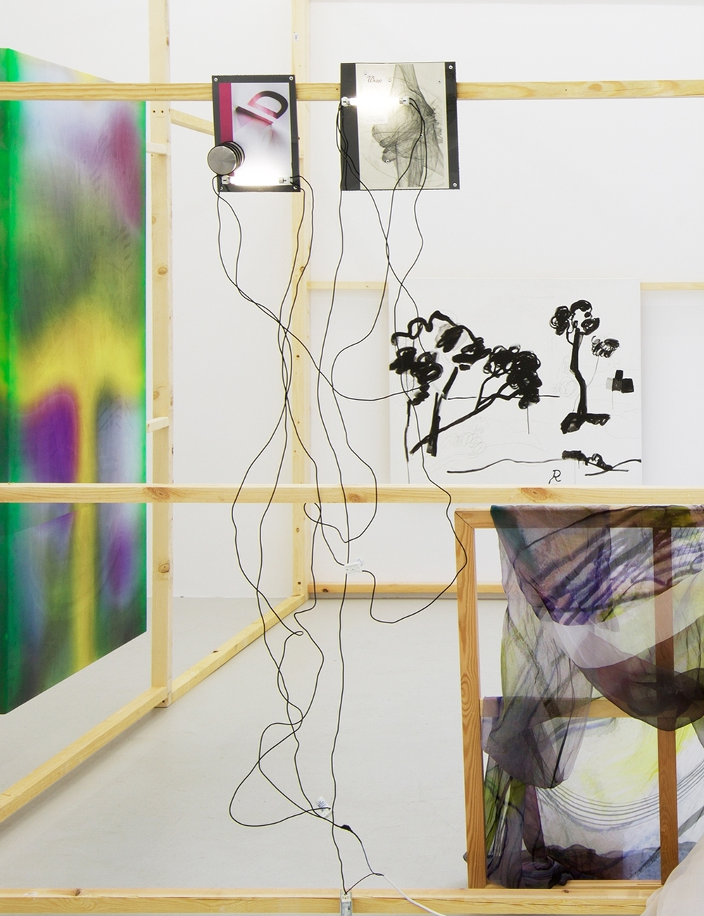 Installation view, Windoes, The Composing Rooms