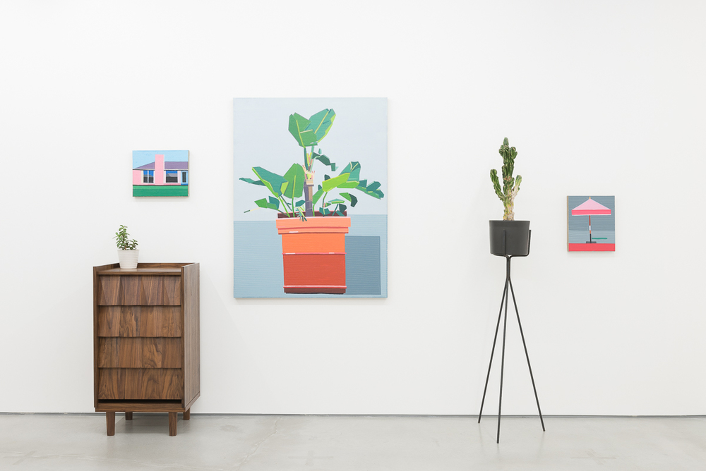 Installation view, Guy Yanai feat. Rafe Mullarkev, Rod Barton
