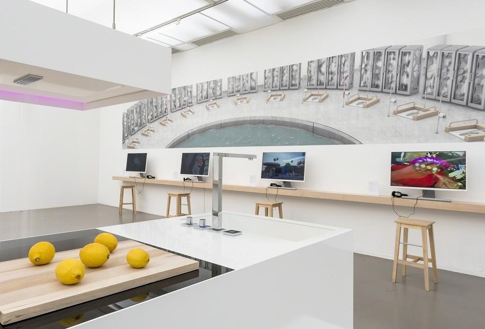 Installation view, CO-WORKERS - The Network As Artist,Musée d'Art moderne de la Ville de Paris