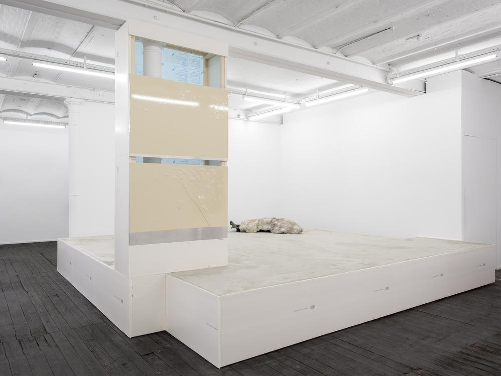 Installation view, Steffen Bunte, Shell; Fiction (Trailer), Galerie Jeanroch Dard