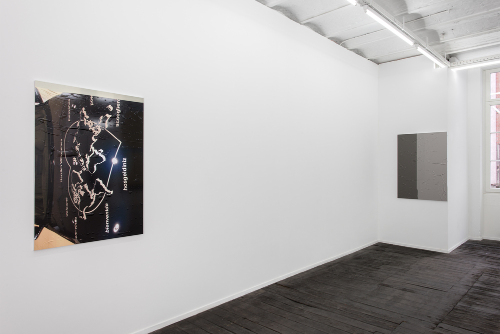 Installation view, Steffen Bunte, Shell; Fiction (Trailer), Galerie Jeanroch Dard