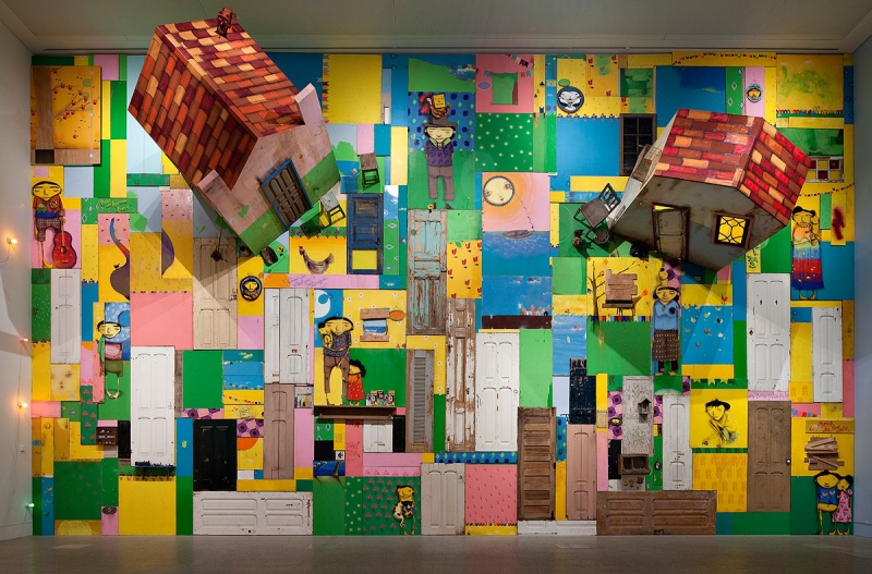 Installation view, OsGemeos, Museu Berardo, 2011, Photo by David Rato.
