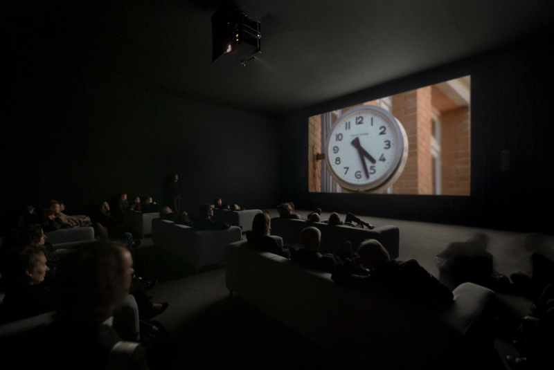 Installation view, Christian Marclay , The Clock , Museu Berardo, 2015
