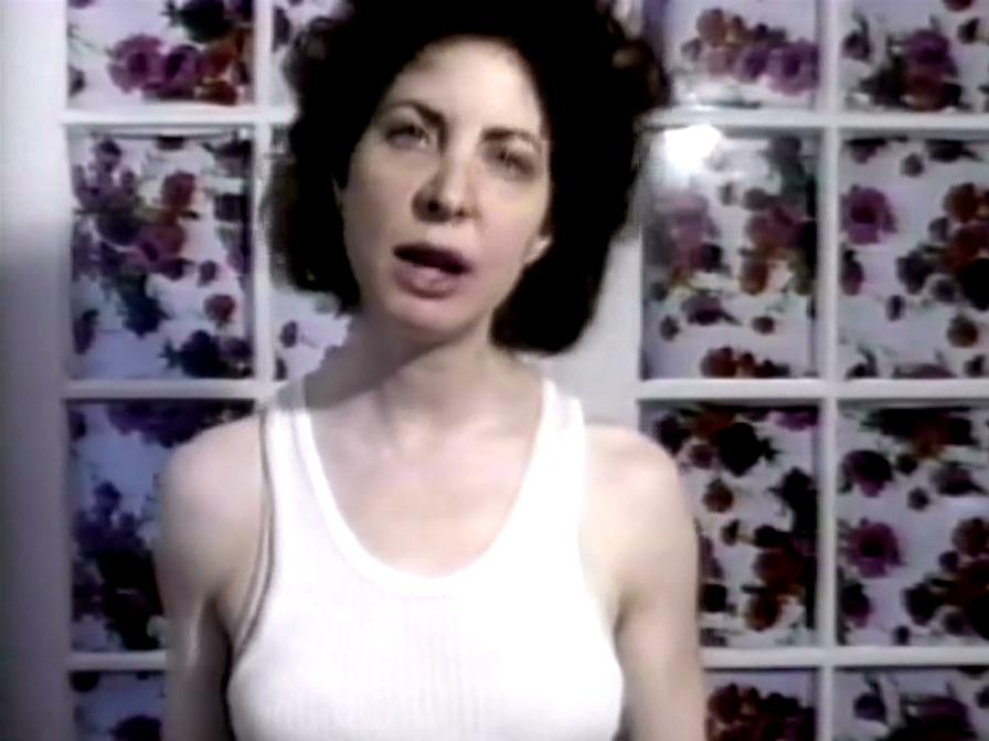 Julia Scher,Lypsync'd 1986-2015, 1986-2015 (Video Still)