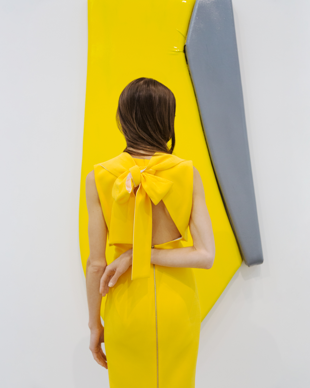 Pari Ehsan at Justin Adian - Skarstedt Gallery wearing Victoria Beckham, Photo by Tylor Hóu.