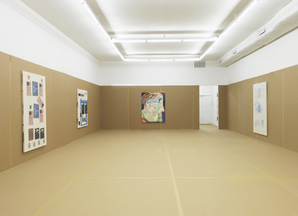 Installation view, Augustus Thompson, Staying in the Shoe Box, Howard St
