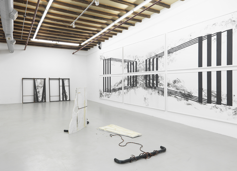 Installation view, Amy and Oliver Thomas-Irvine, Derailer Derailer, The Still House Group