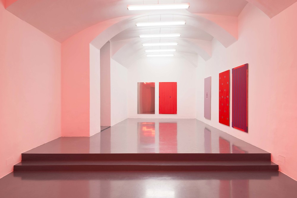 Installation view, Nick Oberthaler,Distinct Features Of Fast Oscillations In Phasic And Tonic Rapid Eye Movement, Galerie Emanuel Layr.