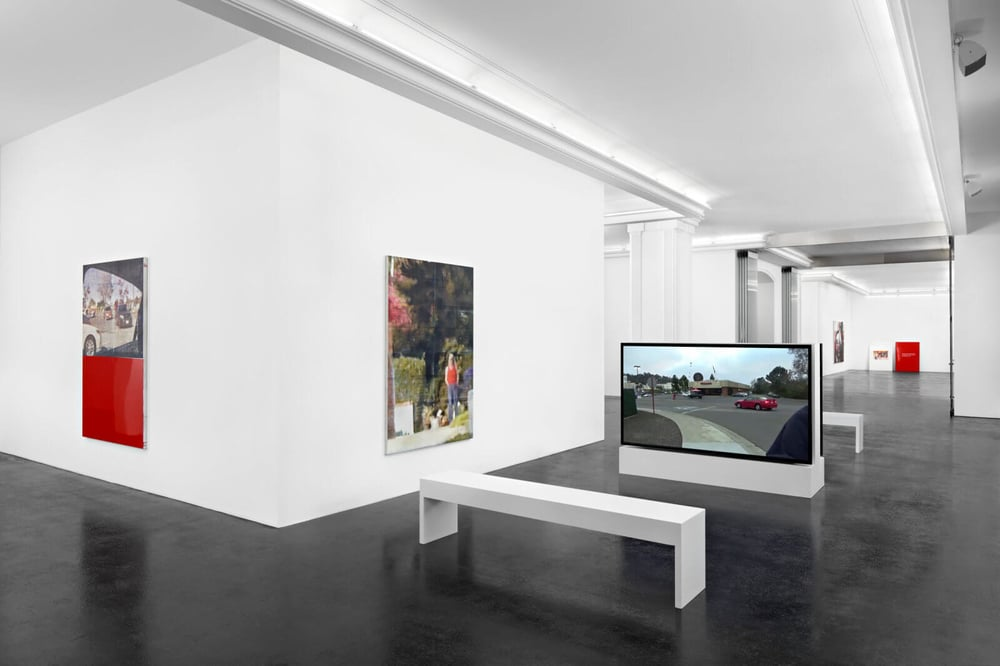 Installation view, Leo Gabin, Exit/Entry , Peres Projects