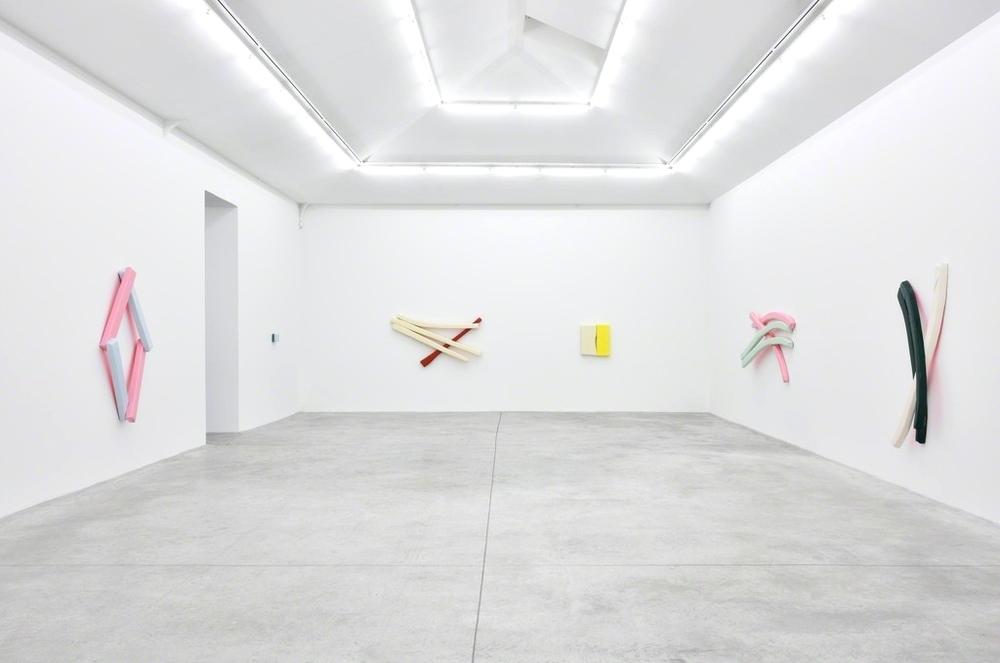 Installation view, Justin Adian,Waltz, Almine Rech