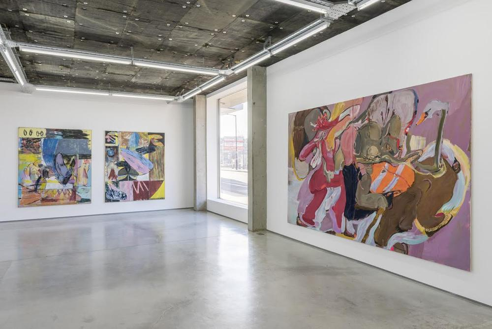 Installation view, Jon Pilkington, Stefanie Heinze, Rod Barton, London.