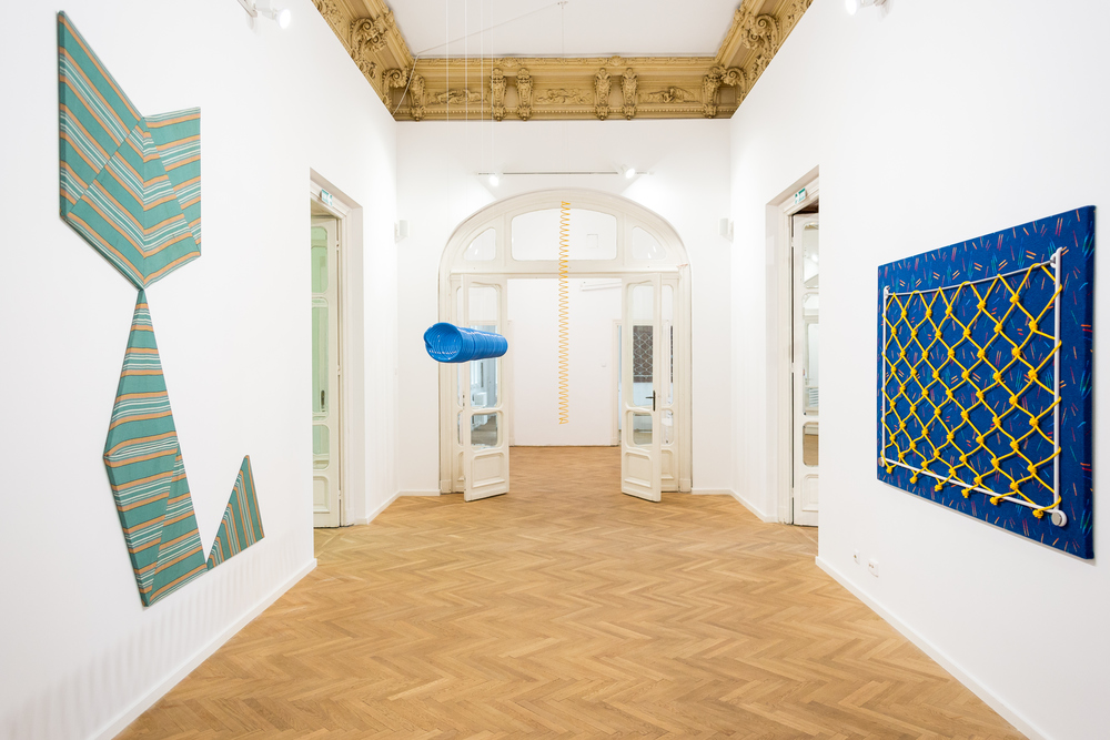 Installation view,  What is a bird? We simply don't know , Nicodim Gallery, curated by Domenico de Chirico.