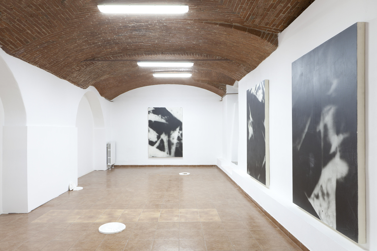 Installation view, Hubert Marot and Pedro Matos,  Where there's something hiding beneath the surface , Bid Project, Curated by Domenico de Chirico