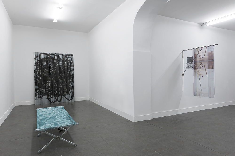 Installation view,  Grey,  Brand New Gallery, curated by Domenico de Chirico