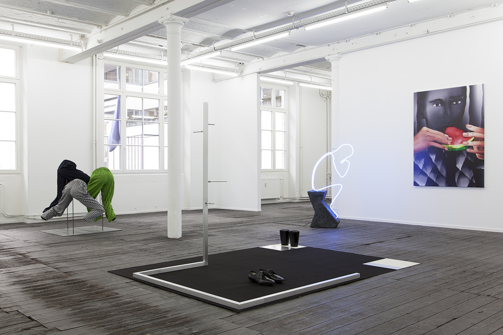 Installation view,  A Perfect Lie  ,  Galerie Jeanroch Dard, curated by Domenico de Chirico