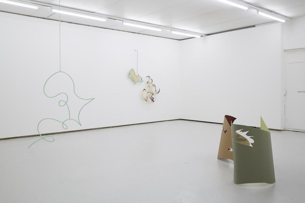 Installation view, Hanae Wilke, Conduit Slur, Kinman Gallery