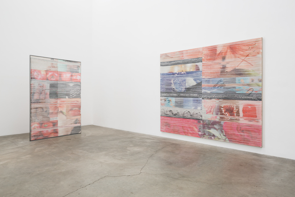Installation view, Margo Wolowiec, Double Blind, Anat Ebgi