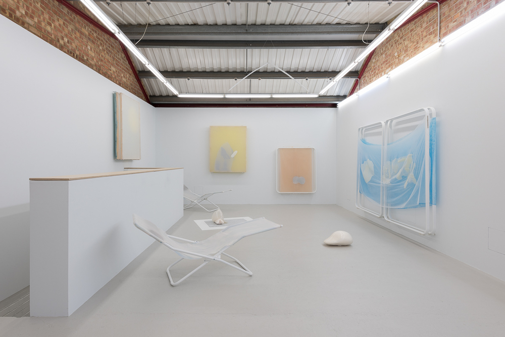 Installation view, Ittah Yoda, I think mango you say salmon, Annka Kultys Gallery