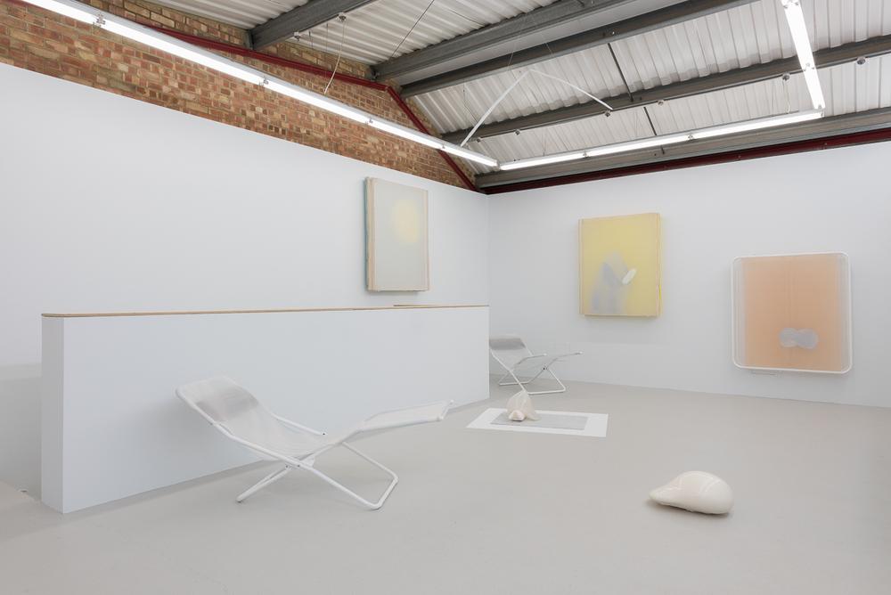Installation view, Ittah Yoda,I think mango you say salmon, Annka Kultys Gallery