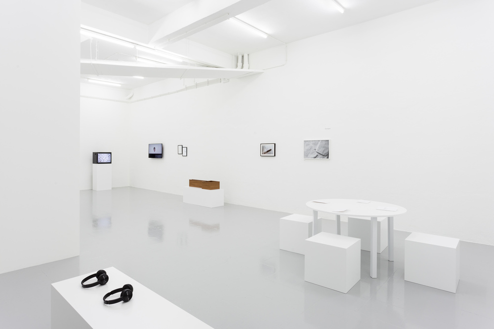 Installation view, Iman Issa,  Reasonable Characters in Familiar Places , Kunsthalle Lissabon