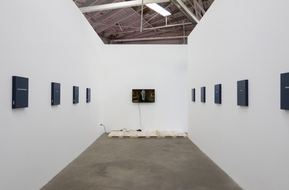 Installation view, Keith J. Varadi,  Free Wi-Fi, Comedy , Night Gallery