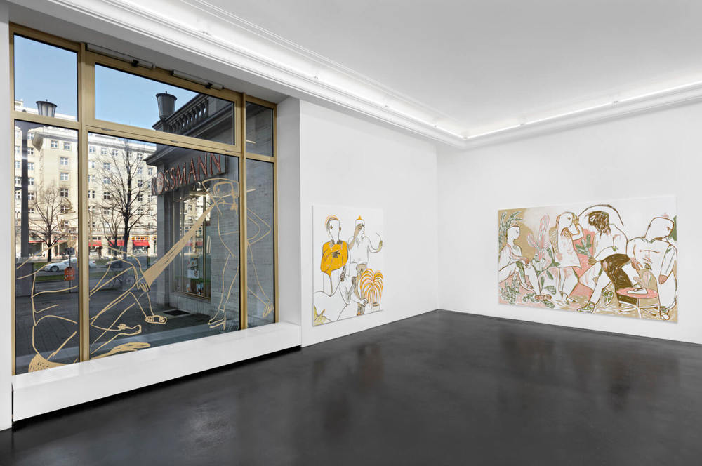 Installation view, Melike Kara,  In Your Presence , Peres Projects