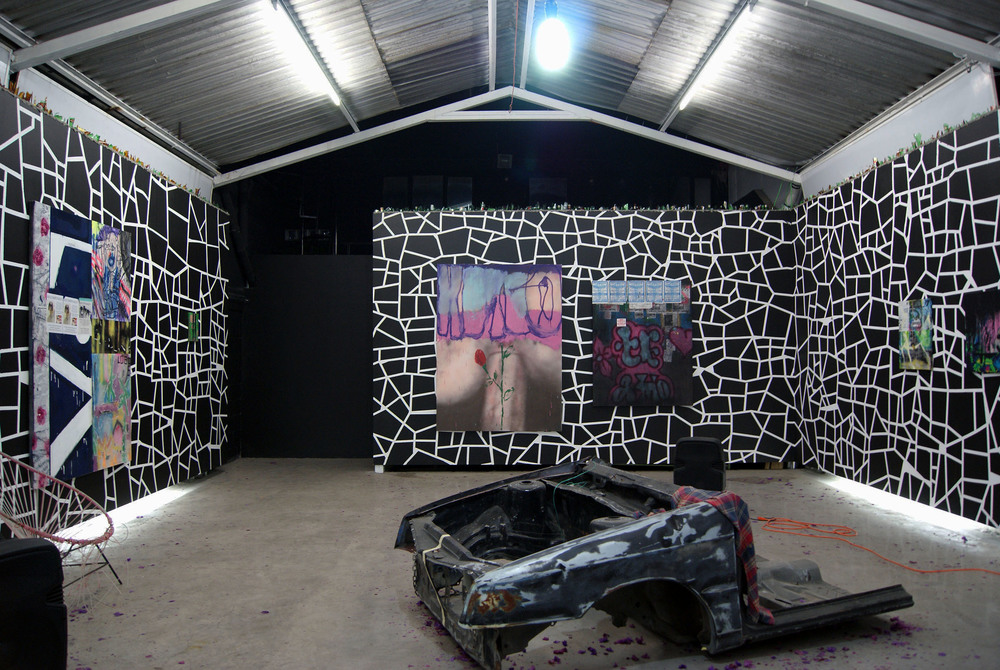 Installation view, Andrew Birk, Callejero, Anonymous Gallery