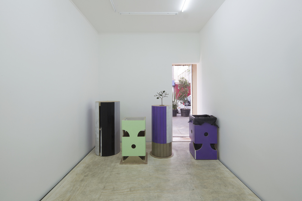 Installation view, Manfred Pernice, Lulu