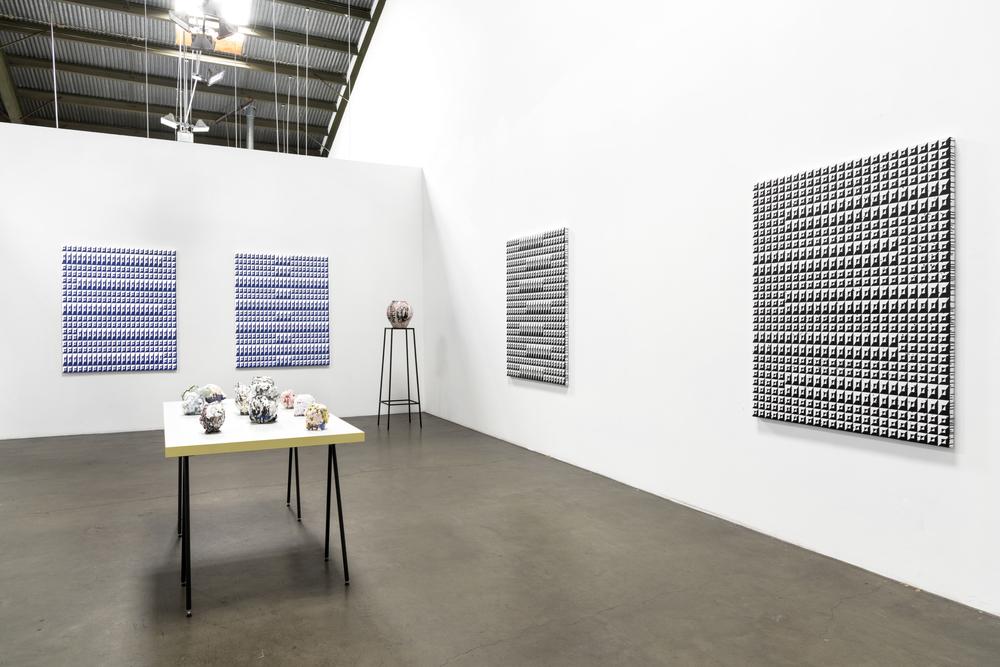 Installation view,Matt Mignanelli,Brian Rochefort,Russell Tyler, Richard Heller Gallery