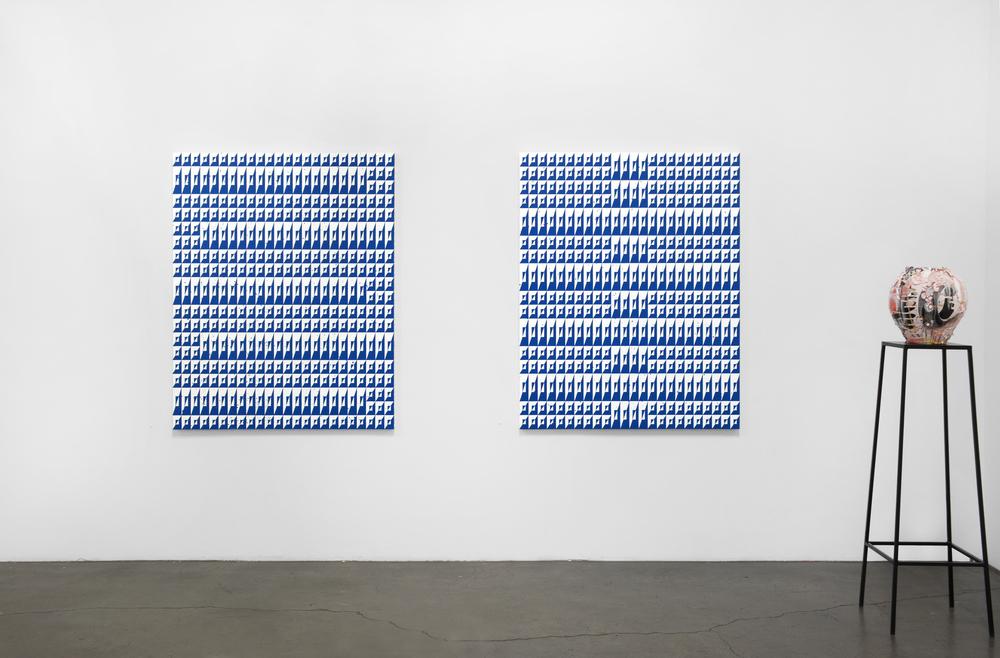 Installation view, Matt Mignanelli,Brian Rochefort,Russell Tyler, Richard Heller Gallery