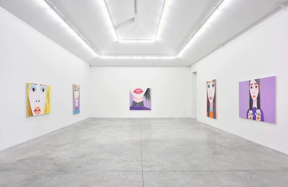 Installation view, Brian Calvin, Hours, Almine Rech Gallery